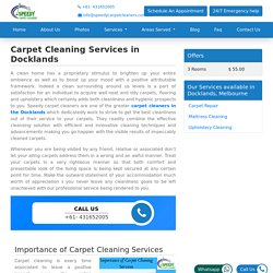 Carpet Cleaning Services in Docklands