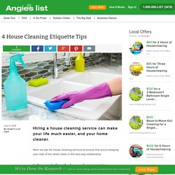 4 House Cleaning Etiquette Tips