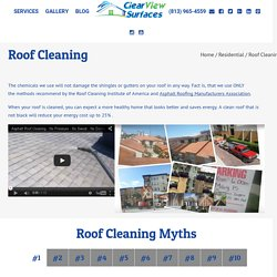 Roof Cleaning Pasco County