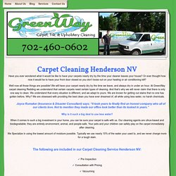Carpet Cleaning Henderson NV The GreenWay - Services - Carpet Cleaning