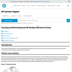 Cleaning and Maintaining the HP Deskjet 900 Series Printer