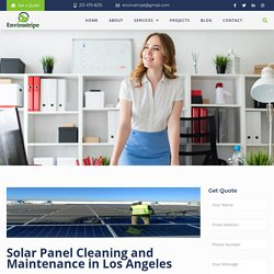 Solar Panel Cleaning and Maintenance in Los Angeles