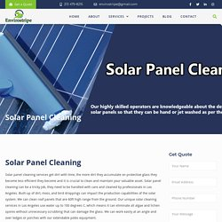Solar Panel Cleaning and Maintenance Los Angeles
