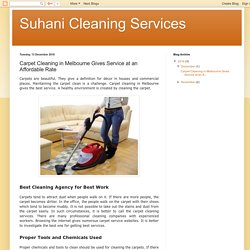 Suhani Cleaning Services: Carpet Cleaning in Melbourne Gives Service at an Affordable Rate