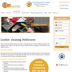 OZ Leather Carpet Cleaning Melbourne