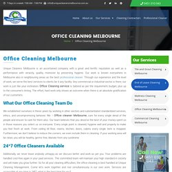 Office Cleaning Melbourne - Unique Cleaners Melbourne