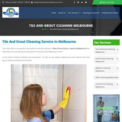 Grout Sealing Melbourne, Grout Recolouring