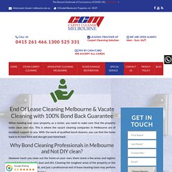 Vacate Cleaning Melbourne - 100% Bond Back