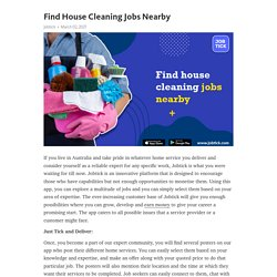 Find House Cleaning Jobs Nearby – Telegraph
