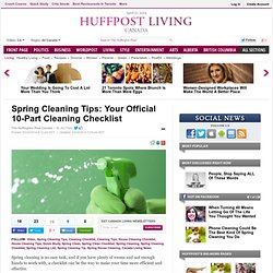 Spring Cleaning Tips: Your Official 10-Part Cleaning Checklist