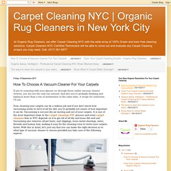 Organic Rug Cleaners in New York City: How To Choose A Vacuum Cleaner For Your Carpets