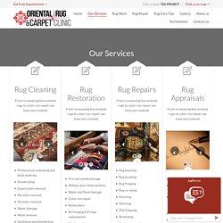 Cleaning Oriental Rugs - Rugandcarpetclinic.com
