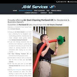 J & M Services Offer Air Duct Cleaning Services in Dis-countable Price