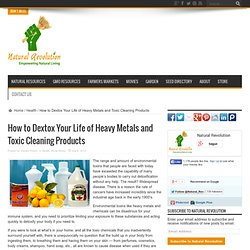 How to Dextox Your Life of Heavy Metals and Toxic Cleaning Products