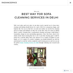 Best way for Sofa Cleaning Services In Delhi – radiancespace