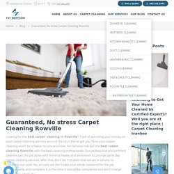 Carpet Cleaning Rowville