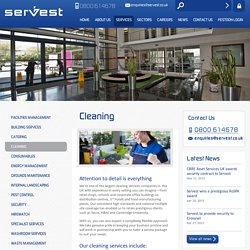 Cleaning - See Our UK Cleaning Services