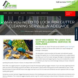 Why you need to look for Gutter Cleaning service in Adelaide