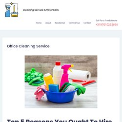 Affordable Office Cleaning Service in Amsterdam