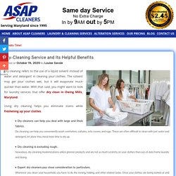 Dry-Cleaning Service and Its Helpful Benefits