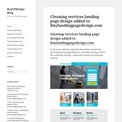 Cleaning service landing page design for all type of cleaning