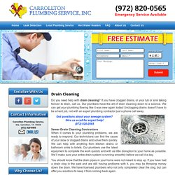Drain Cleaning Service Carrollton, Plano, and Frisco
