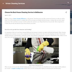 House Cleaning - House Cleaning Melbourne by DrivenCS