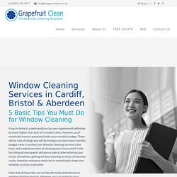 Window Cleaning Services in Cardiff, Bristol & Aberdeen