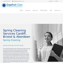 Spring Cleaning Services Cardiff, Bristol & Aberdeen