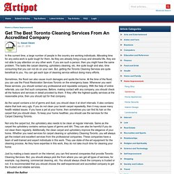 Basic Information About Toronto Cleaning Services
