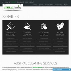 Austral Cleaning Services In Australia