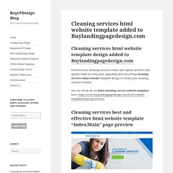 Cleaning services html website template design for sale