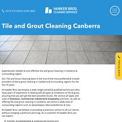 Tile And Grout Cleaning Services In Canberra