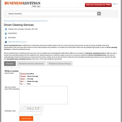 DrivenCS - Driven Cleaning Services at BusinessListings