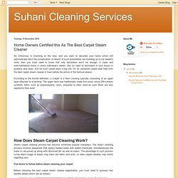 Suhani Cleaning Services: Home Owners Certified this As The Best Carpet Steam Cleaner