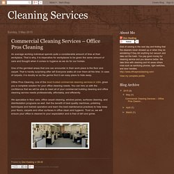 Cleaning Services: Commercial Cleaning Services – Office Pros Cleaning