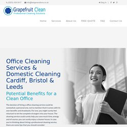 Office Cleaning Services & Domestic Cleaning Cardiff, Bristol & Leeds