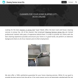 Cleaning Services Jersey City