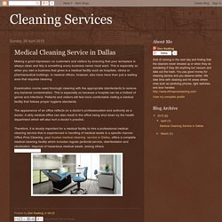 Cleaning Services: Medical Cleaning Service in Dallas