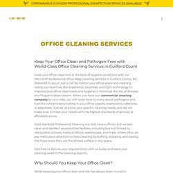 Hire Office Cleaning and Disinfecting Services Provider