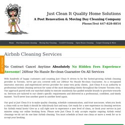 Moving In Cleaning Services Toronto, Move Out Cleaning Services, Post Renovation Cleaning - Airbnb Cleaning Services