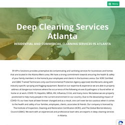 Deep Cleaning Services Atlanta