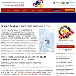 Drain Cleaning & Plumbing Service Toronto