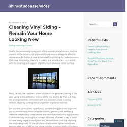 Cleaning Vinyl Siding – Remain Your Home Looking New