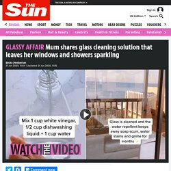 Mum shares glass cleaning solution that leaves windows and showers sparkling