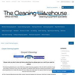 UK Carpet Cleaning Products & Machines