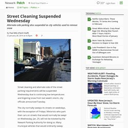 Street Cleaning Suspended Wednesday