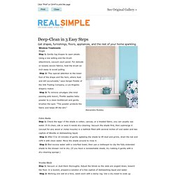 Deep-Cleaning Tasks Done in 3 Easy Steps - RealSimple.com