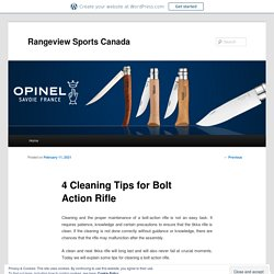 4 Cleaning Tips for Bolt Action Rifle