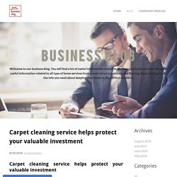 Carpet cleaning service helps protect your valuable investment - Home
